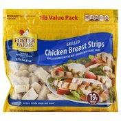 Foster Farms Chicken Breast Strips, Grilled, 1 Pound Value Pack