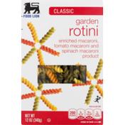 Food Lion Pasta, Garden Rotini, Classic, Box