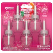 Glade PlugIns Cranberry Oh So Merry Scented Oil Refills