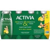 Activia Probiotic Dailies & Prebiotic Fiber Honey Ginger & Lemon Ginger Lowfat