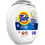 Tide PODS Total Clean Free Liquid Laundry Detergent Pacs For Sensitive Skin