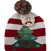 Lotsa Lites Knitted Hat, Flashing Holiday