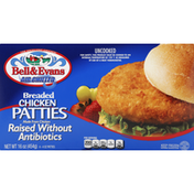 Bell & Evans Patties, Chicken, Breaded, Air Chilled