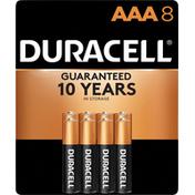 Duracell Batteries, Alkaline, AAA, 1.5 V, 8 Pack