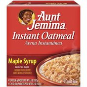 Aunt Jemima Maple Syrup 1.34 Oz Instant Oatmeal