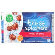 Food Club Thirst Splashers, Wild Cherry Flavored Juice Drink
