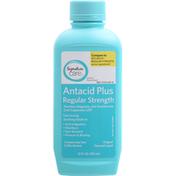 Signature Care Antacid Plus, Regular Strength, Original Flavored, Liquid