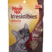 Meow Mix Treats for Cats, with White Meat Chicken & Beef, Crunchy