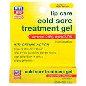 Rite Aid Cold Sore Treatment Camphor 10.8%, Phenol 4.7% Gel Formula