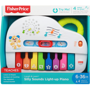 Fisher-Price Silly Sounds Light-Up Piano, 6-36M