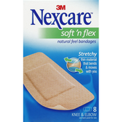 Nexcare Bandages, Natural Feel, Knee & Elbow