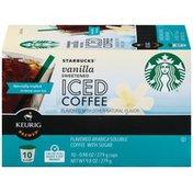 Starbucks Vanilla Sweetened 9.8 oz Iced Coffee K-Cup