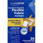 CareOne Antibacterial Flexible Knuckle & Fingertip Bandages
