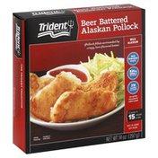 Trident Seafoods Beer Battered Alaskan Pollock, Box