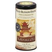 The Republic of Tea Oolong Tea, Peach Blossom Oolong, Bags