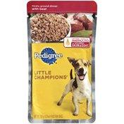 Pedigree Little Champions Meaty Ground Dinner W/Beef Wet Dog Food
