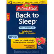 Nature Made Back to Sleep, Berry, Tablets