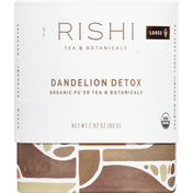Rishi Tea Pu'er Tea, Organic, Dandelion Detox, Loose