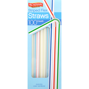 Acadian Trading Straws, Striped Flex