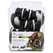 Good2 Go Explore and Protect Black Extreme Weather Dog Boots Medium