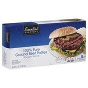 Essential Everyday Ground Beef Patties, 100% Pure