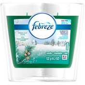 Febreze Candle Febreze Scented Candle Fresh Cut Pine Air Freshener (1 Count, 4.3 oz) Air Care