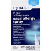 Equaline Nasal Allergy Spray, 24 Hour Multi-Symptom, Original Prescription Strength