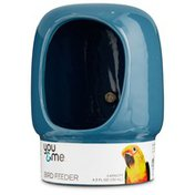 You & Me Curved Bird Crock With Clamp Blue