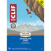 CLIF BAR Energy Bars, Chocolate Chip