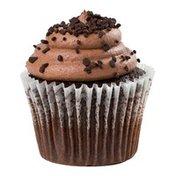 Chocolate Iced Cupcake With Pick