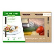 Home Chef Meal Kit French Onion Dip Chicken With Parmesan Zucchini And Tomatoes