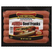 Red Hot Chicago Beef Franks, Jumbo, Vacuum Packed