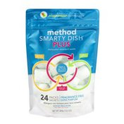 Method Smarty Dish Plus Dishwasher Detergent Packs Fragrance Free - 24 CT