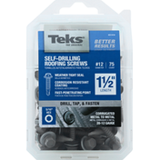 Teks Screws, Roofing, Self-Drilling, 1-1/2 Inch Length