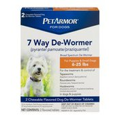 PetArmor For Dogs 7 Way De-Wormer For Puppies & Small Dogs - 2 CT
