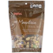 Hy-Vee Mountain Peanuts, Raisins, Chocolate Flavored Candies, Golden Raisins & Cashews Trail Mix