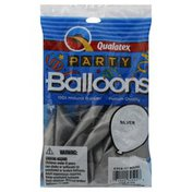 Qualatex Balloons, Round, 11-Inch, Silver