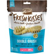 Merrick Double-Brush Dental Dog Treats With Mint Breath Strips For Small Breeds