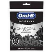 Oral-B Charcoal Infused Mint Dental Floss Picks