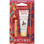 Burt's Bees Hive Favorites Strawberry Lip Balm & Body Lotion Holiday Gift Set