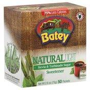 Batey Sweetener, Stevia & Turbinado Sugar, Natural, Light