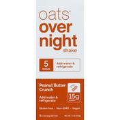 Oats Overnight Shake, Peanut Butter Crunch, 5 Pack