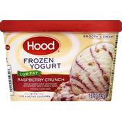 Hood Frozen Yogurt, Low Fat, Raspberry Crunch