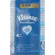 Kleenex Trusted Care Everyday Facial Tissues Flat Box