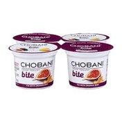 Chobani Low-Fat Greek Yogurt Bite Fig with Orange Zest  - 4 CT