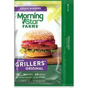 Morning Star Farms Veggie Burgers, Grillers Original, Vegetarian, Excellent Source of Protein
