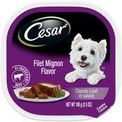 CESAR Soft Wet Dog Food Classic Loaf in Sauce Filet Mignon Flavor