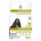 Bayer Quad Dewormer Chewable Tablets for 26-69 Pounds Dog