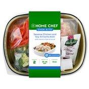 Home Chef Sesame Chicken And Soy Sriracha Aioli With Cilantro Lime Broccoli