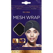 Donna Mesh Wrap, Black